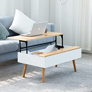 Lift Top Coffee Table for Living Room White Coffee Table with Storage
