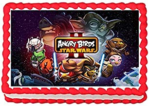Angry Birds Star Wars Edible Image Cake Topper Frosting Sheet-7.5