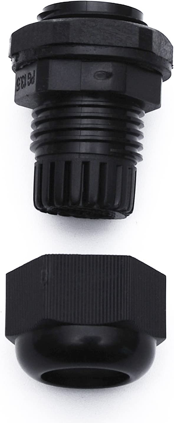8 Gauge, Black Conextlink 5pcs Waterproof IP68 Nylon Firewall Bushing Grommet Cable Gland Joint Adjustable Locknut Protectors for Power Cable