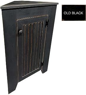 Sawdust City Kitchen Corner Cabinet (Old Black)
