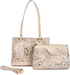 Nevis Latest Women's PU Handbag And Shoulder Bag Combo Pack Of 2