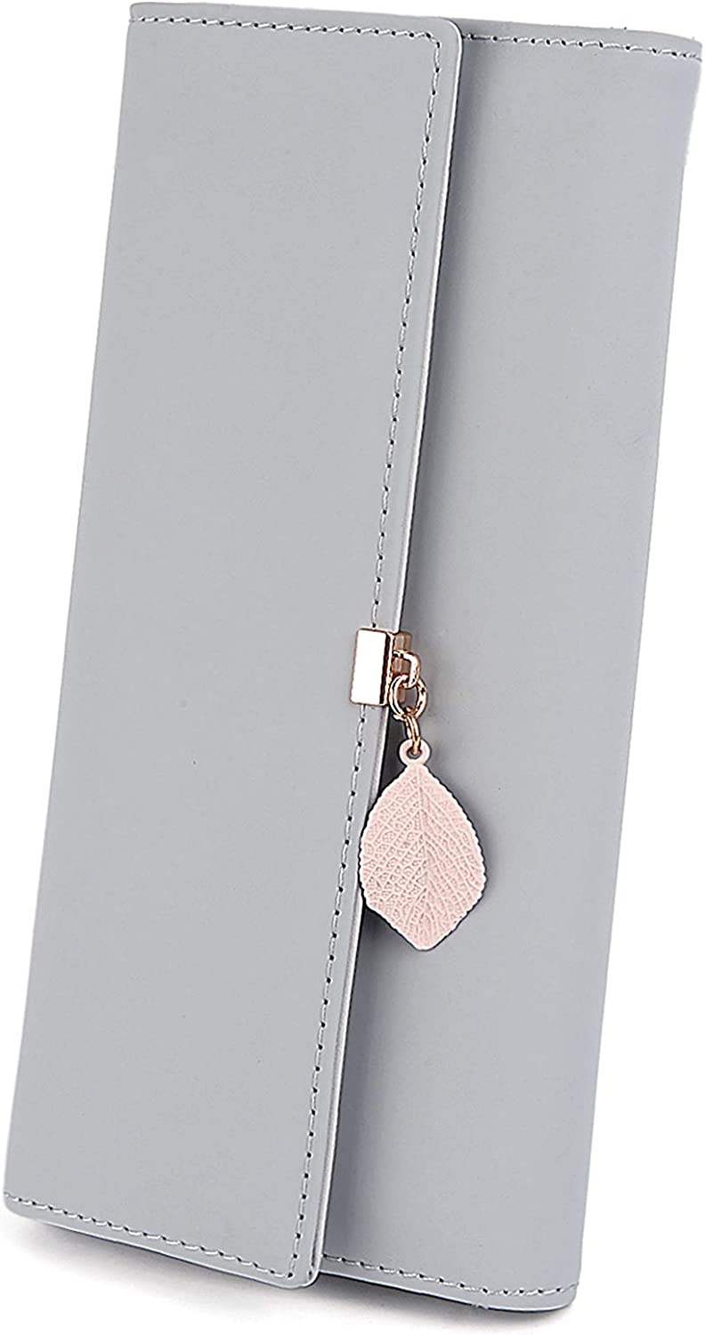 UTO Wallet for High material Women PU Leather Phone Holder C Ranking TOP19 Pendant Card Leaf