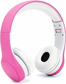 KPTEC [Volume Limited] Kids Safety Foldable On-Ear Headphones with Mic, Volume Controlled at Max 93dB to Prevent Noise-ind...