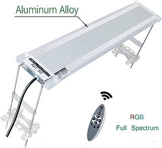 HITOP Full Spectrum LED Aquarium Lamp RGB Plant Light, with Remote Controller, fits Tanks 18-24 30-36 inch