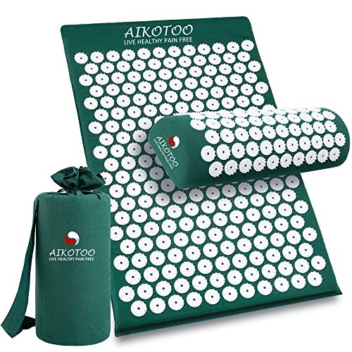 Acupressure Mat and Pillow Set for Sciatic Pain Back Pain and Neck Pain Relief Relieve...