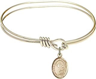 Joseph of Cupertino Charm. DiamondJewelryNY Eye Hook Bangle Bracelet with a St