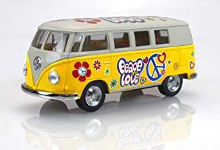1962 Volkswagen Classic Bus with Decals 1/32 scale Die Cast Model Toy Car - YELLOW