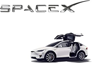 SpaceX Decals 3D Metal Car Rear Trunk Emblem Sticker Badge Decals for Tesla Model S/3/X Decorative Accessories