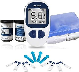 Denshine Diabetes Testing Kit Electronic Blood Glucose Meter Glucometer Digital Handheld Blood Glucose Monitor Diabetes Test Meter Monitor Kit with 50 Test Strips, 50 Lancets (#103)