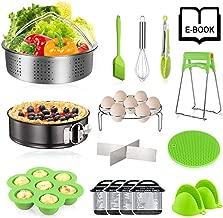 Instant Pot Accessories Set - CHUGOD 16 Pcs Pressure Cooker Accessories Set Compatible with Instant Pot 6,8 Qt, Steamer Basket, Springform Pan, Egg Bites Mold, Egg Steamer Rack, Oven Mitts (GREEN)