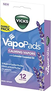 Vicks Calming Lavender Vapopad Family Pack, 12 Count