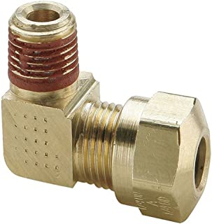 Brass Pack of 10 5//16 Compression Tube x 1//4 Male Thread Parker Hannifin 68C-5-4-pk10 Compression Fitting Male Connector