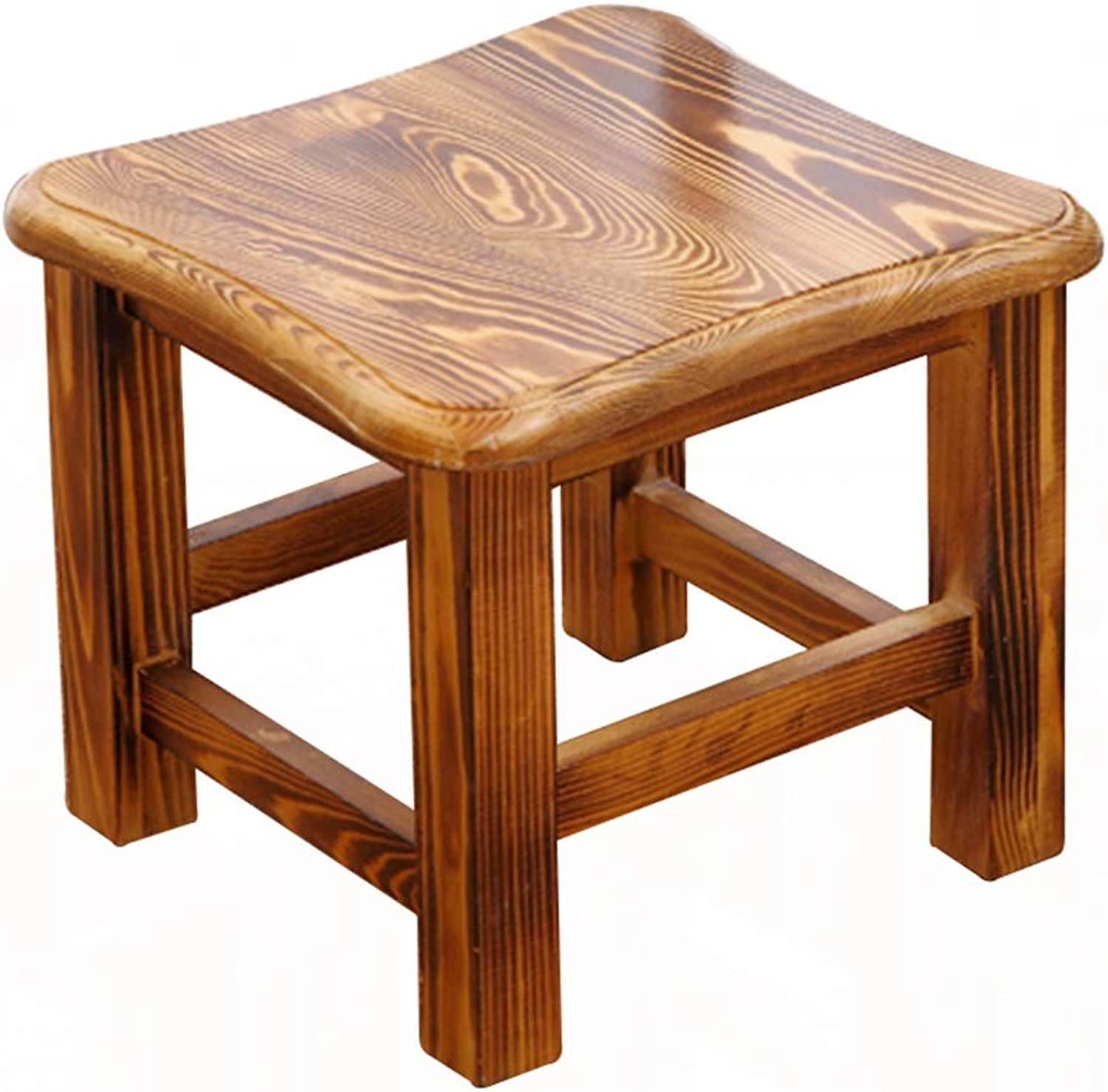 Stool - shoes Bench, Household Solid Wood Coffee Table Stool, Adult Small Square Stool Low Stool 29.5  29.5  25.5cm (color   A)