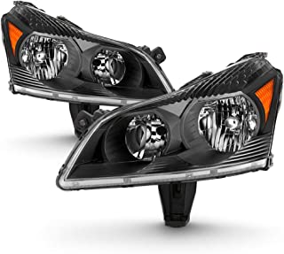 ACANII - For 2009-2012 Chevy Traverse LS/LT Black Headlights Headlamps Replacement Driver & Passenger Side