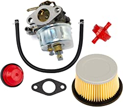 HIFROM Replace Carburetor Carb kit for Tecumseh 632113 632113A HS40 HSSK40 with Air Filter 30727 30604 John Deer AM30900 Cub Cadet 488619 488619-R1 Lesco 050113