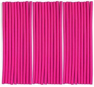 3Pack(30Rods) Flexi Curling Hair Rods No Heat Soft Foam Hair Curlers Twist Flex Rods Set for Long,Medium,Short Human Hair ...