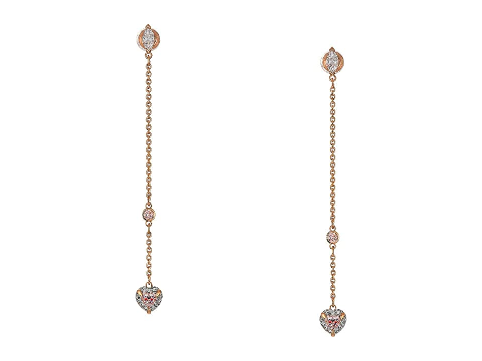 Swarovski One Pierced Drop Earrings Earrings (Pink) Earring