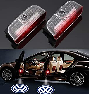 Car Door LED Logo Projector Light,Easy to Install 3D Ghost Shadow Courtesy Step Light Welcome Emblem Lamp Compatible with VW Passat B6 B7 CC Golf 6 7 MK5 MK6 Tiguan Scirocco Atlas Magotan