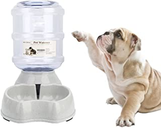 Old Tjikko Dogs Water Dispenser,Water Bowl for Dogs,Pet Water Dispenser,Automatic Dog Water Bowl Cat Water Dispenser Dog Drinking Fountain,1 Gallon
