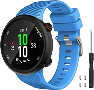 Watbro Compatible with Garmin Forerunner 45 Band, Soft Silicone Sport Replacement Watch Band, Fitness Strap Bracelet Wrist...