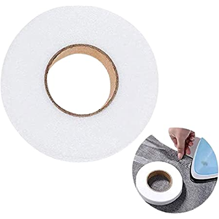 HUNNY- BUNCH Premium Double Sided Fusing Tape - Rivil Civil Tape - Fabric Fusible Tape or Iron-on Hemming Tape (Length 100 Yards - Size : 20MM) Pack of 1