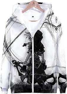 Pullover Hoodie Sweatshirt Sora Aqua Costume Kingdom Hearts Game Cosplay Zip Up Jacket