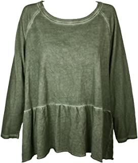 Style & Co. Womens Peplum Long Sleeves Sweatshirt