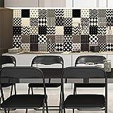 Ambiance-Live col-tiles-ROS-B004_15x15cm Pegatinas de Pared, Multicolor, 15 x 15 cm, Set de 30 Piezas
