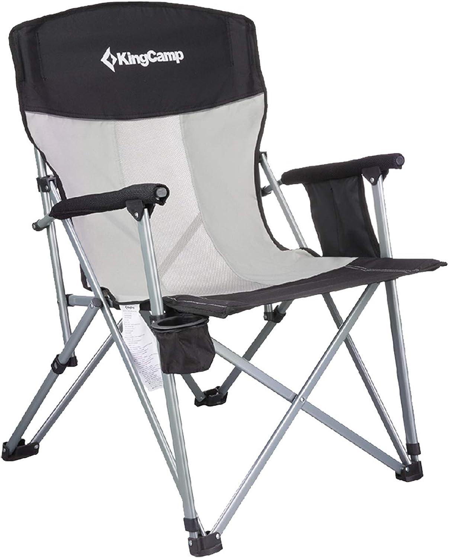 KingCamp Campingstuhl Angelstuhl Klappstuhl mit Getrnkehalter und Seitentasche