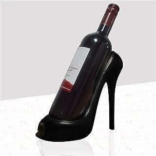 FLAIGO Casier à vin créatif en forme de chaussure à talons hauts, support de rangement sur pied, pour bar, cave à vin, déc...