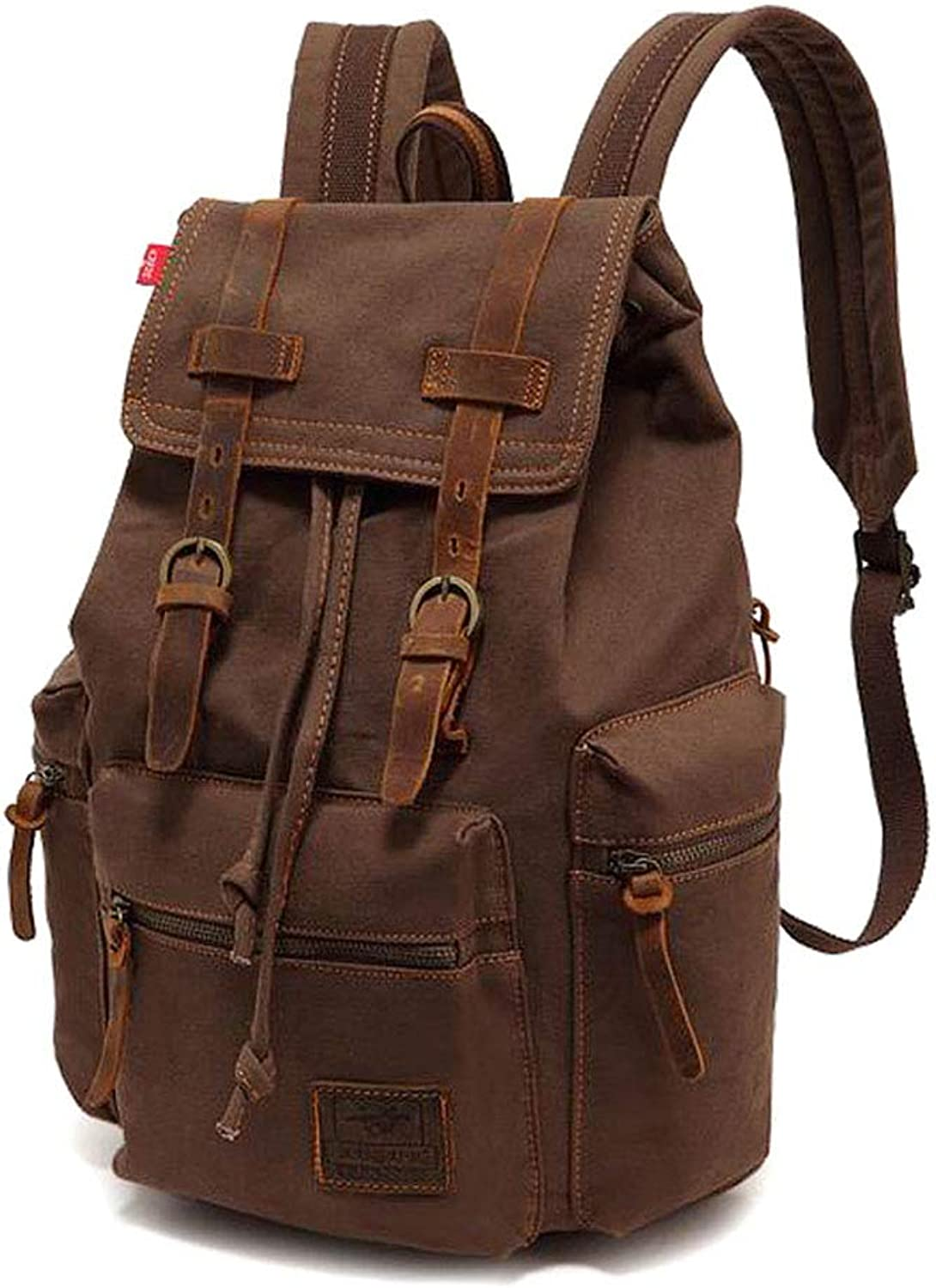XxyA Canvas Vintage Backpack 15.6 Inch Large Capacity Laptop Canvas Backpack