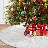 Aitsite Faldas Árbol de Navidad 122 cm /48inch Falda Decoración de Navidad Faldas Blanco Árbol Adornos Felpa