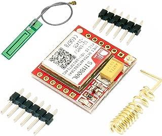 HiLetgo Smallest SIM800L GPRS GSM Breakout Module Quad-Band 850/900/1800/1900MHz SIM Card Slot Onboard with Antenna 3.7~4.2V