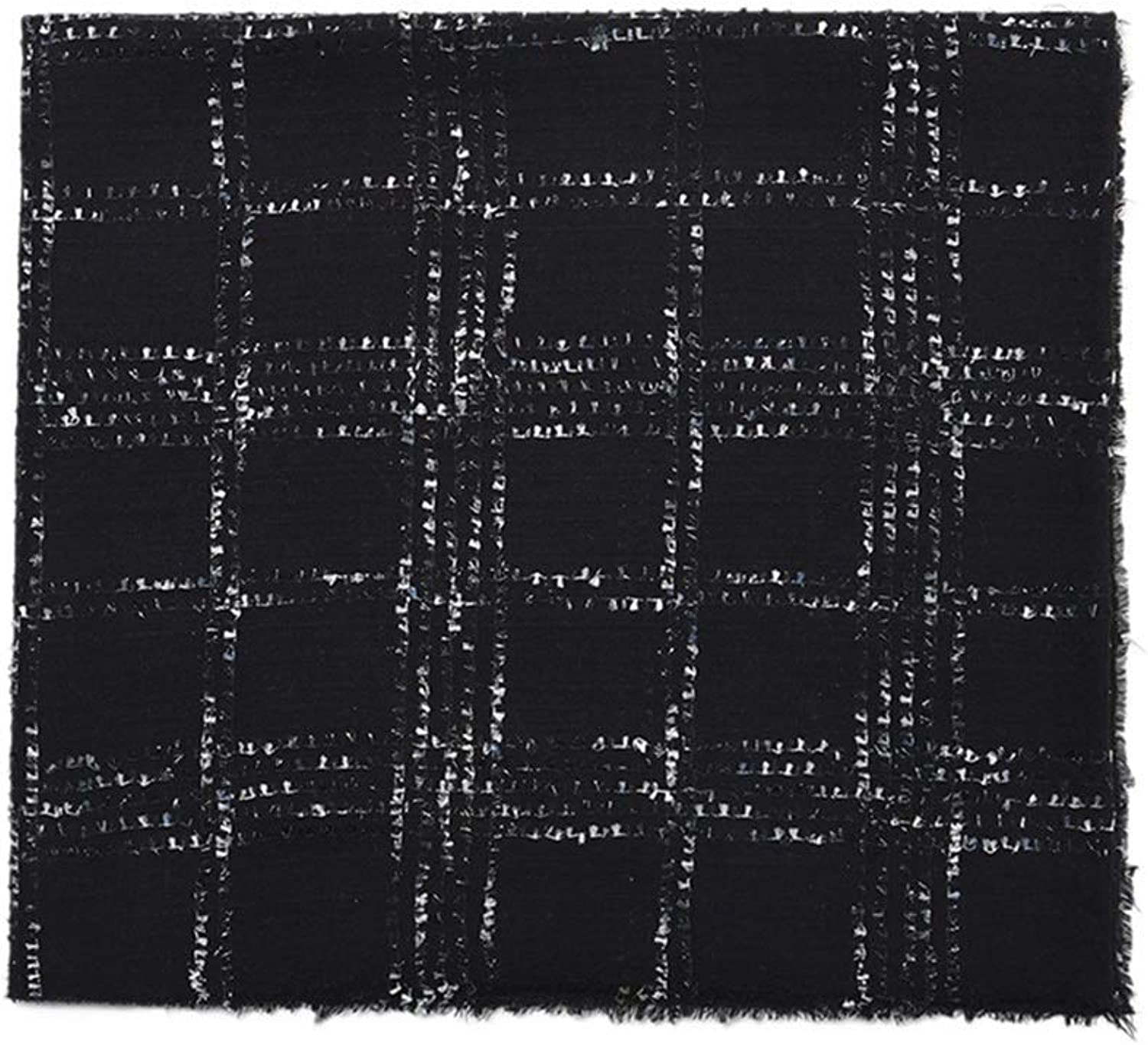 Women's Scarves, 100% Quality Wool Scarf Fall Winter Shawl, Monochrome Jacquard Scarf, 194x85cm