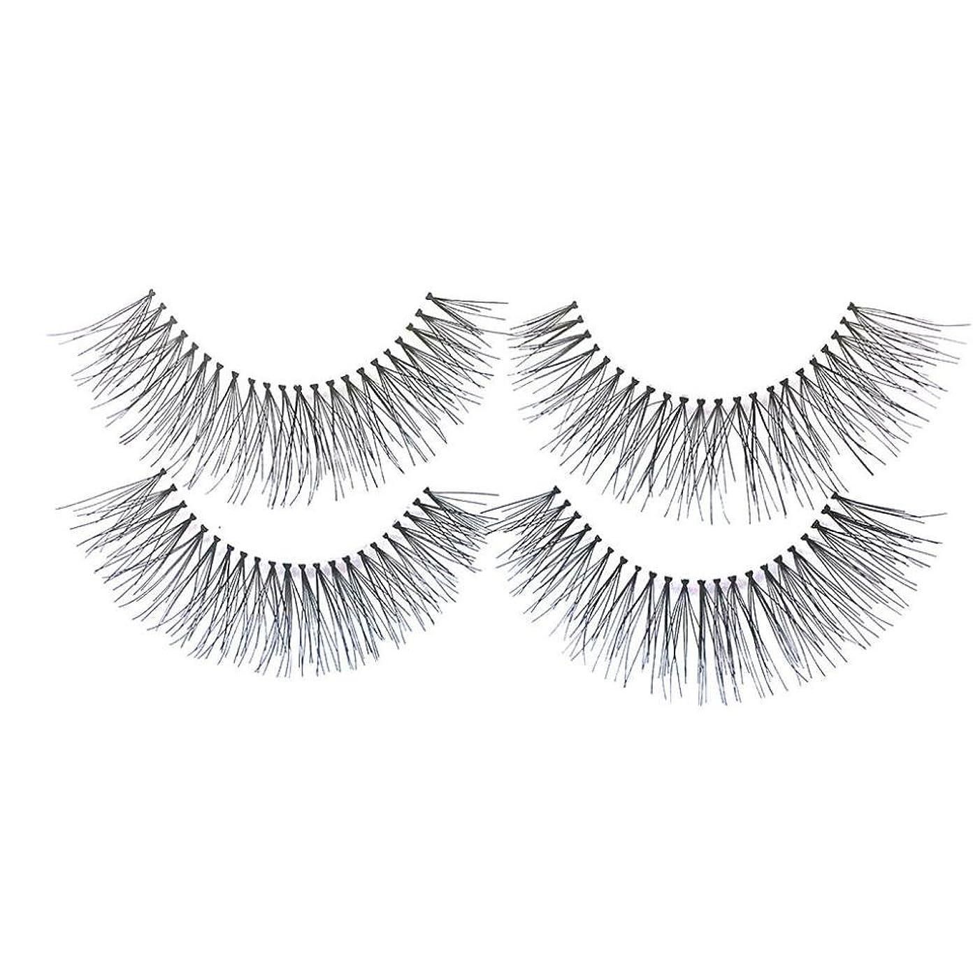 セミナー自分自身ハブブFeteso 2ペア つけまつげ 上まつげ 3D Eyelashes アイラッシュ まつげエクステ扩展 レディース 化粧ツール アイメイクアップ 人気 ナチュラル ふんわり 装着簡単 綺麗 ダイヤモンド付き