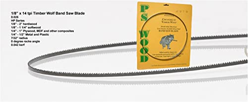 """popular Timber Wolf lowest Bandsaw Blade 2021 1/8"""" x 93-1/2"""", 14 TPI sale"""