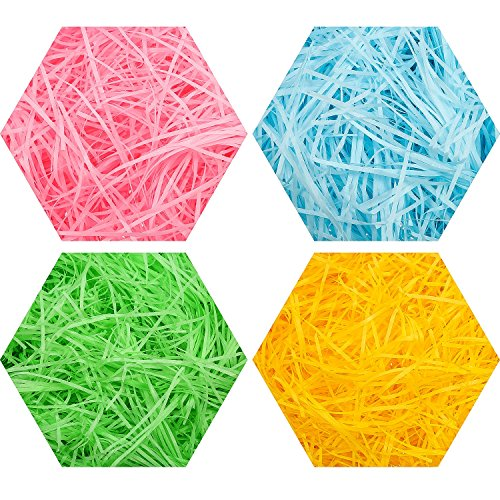 200 g Mehrfarbig Korb Spur Seidenpapier Ostern Geschreddertes Papier, Grün, Pink, Gelb, Blau