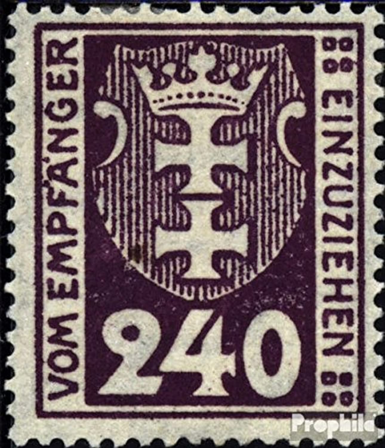 Gdansk P9a Tested 1921 Porto Brand (Stamps for Collectors)
