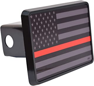 Rogue River Tactical Subdued Thin Red Line Flag Trailer Hitch Cover Plug US Firefighter Fire Fighter Truck Department FD