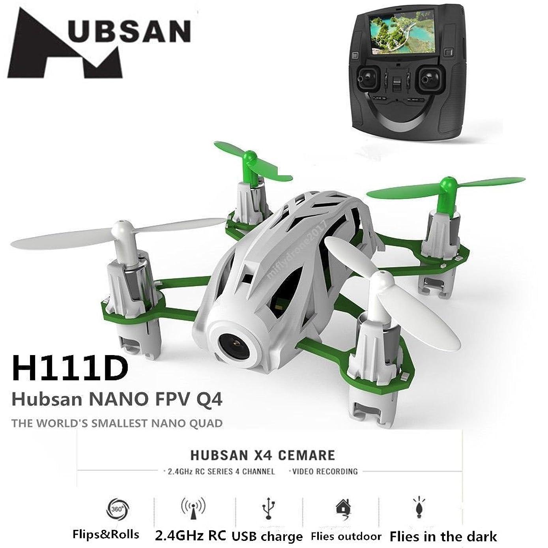 HUBSAN H111D Nano Q4 FPV 5.8G RC Quadcopter Drone with 480P Camera RTF White