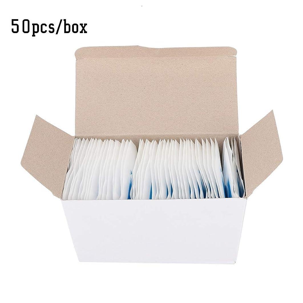 ベル失望最後にアイパッドパッチ50個/箱使い捨て通気性アイパッチドレッシングアイパッド粘着包帯