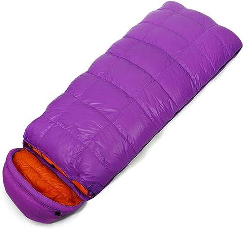 SHUIDAI Sacs de couchage étendu plein air camping en bas , violet , 22085cm