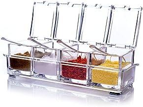 وعاء موزع للتوابل من الاكريليك - صندوق ملح للمطبخ