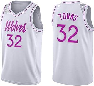Sin Mangas (Minnesota Timberwolves-Karl-Anthony Towns-32) Hombres Nueva Jersey Baloncesto Juvenil Tops para Los Juegos Al Aire Libre Competición Deportes White-M