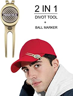 prowithlin Golf Divot Tool w/Golf Ball Marker, Exquisite Golf Gift for Dad | Divot Repair Tool