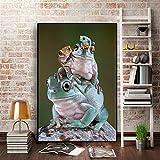 N / A Affiches et Impressions d'animaux Sauvages Nordique Nordique Style Mural Salon Chambre d'enfant décoration Peinture sans Cadre 40 cm X 60 cm