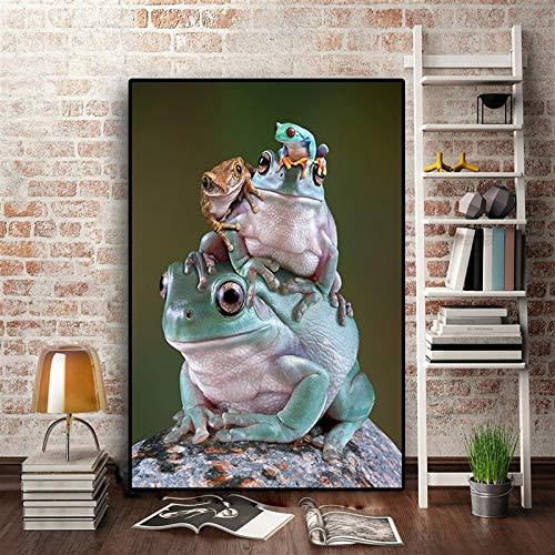 N / A Wildtier Plakate und Drucke nutzlose Malerei nordischen Stil nordischen Wandbild Wohnzimmer Kinderzimmer Dekoration rahmenlose Malerei 30cmX45cm