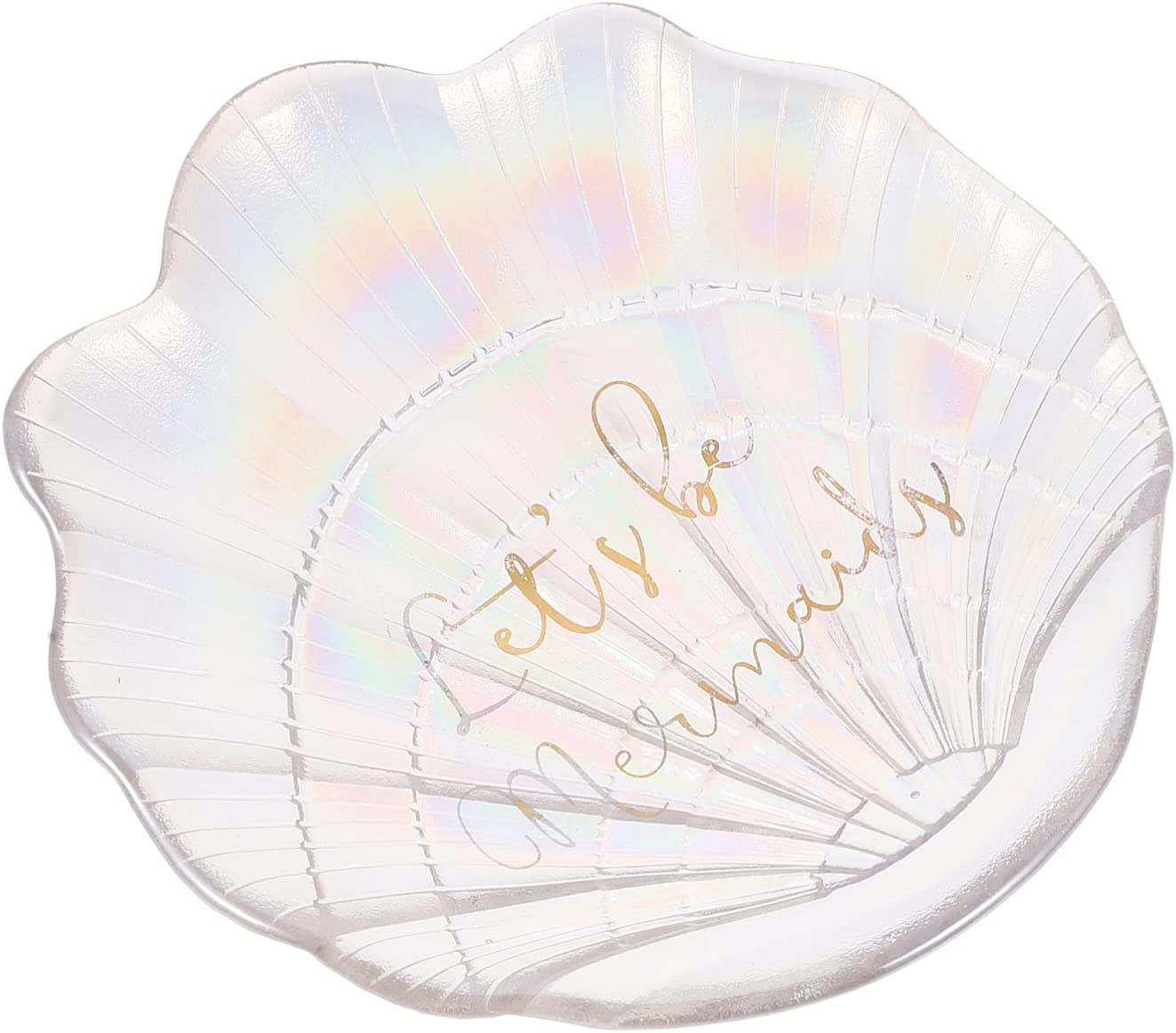 Cabilock Glass Jewelry Tray Decorative Shell safety Appetizer Ranking TOP19 Plate Sea