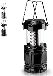 iOutdoor Products Small Camping Lantern for Kids/Women/Men One Pack with Super Bright LED Bulbs, Portable Flashlight,Survival Kit for Emergency, Hurricane, Outage(Batteries not Included) (Black)