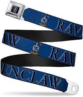 Buckle-Down Seatbelt Belt - Harry Potter RAVENCLAW & Crest Blue/Black - 1.5